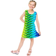 Comic Strip Dots Circle Rainbow Kids  Tunic Dress by Alisyart
