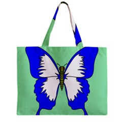 Draw Butterfly Green Blue White Fly Animals Zipper Mini Tote Bag by Alisyart