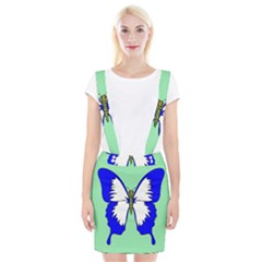 Draw Butterfly Green Blue White Fly Animals Suspender Skirt by Alisyart