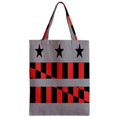 Falg Sign Star Line Black Red Zipper Classic Tote Bag by Alisyart