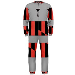 Falg Sign Star Line Black Red Onepiece Jumpsuit (men)  by Alisyart