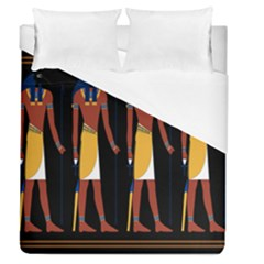 Egyptian Mummy Guard Treasure Monster Duvet Cover (queen Size) by Alisyart