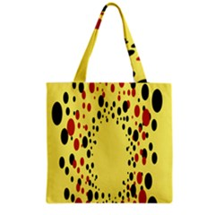 Gradients Dalmations Black Orange Yellow Grocery Tote Bag