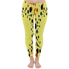 Gradients Dalmations Black Orange Yellow Classic Winter Leggings