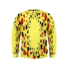 Gradients Dalmations Black Orange Yellow Kids  Sweatshirt