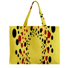 Gradients Dalmations Black Orange Yellow Zipper Mini Tote Bag by Alisyart