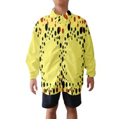 Gradients Dalmations Black Orange Yellow Wind Breaker (kids)