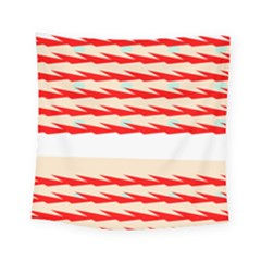 Chevron Wave Triangle Red White Circle Blue Square Tapestry (small) by Alisyart