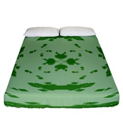 Green Hole Fitted Sheet (king Size) by Alisyart