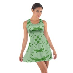 Green Hole Cotton Racerback Dress by Alisyart