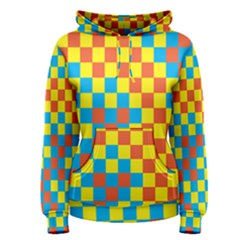 Optical Illusions Plaid Line Yellow Blue Red Flag Women s Pullover Hoodie