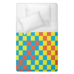 Optical Illusions Plaid Line Yellow Blue Red Flag Duvet Cover (single Size) by Alisyart