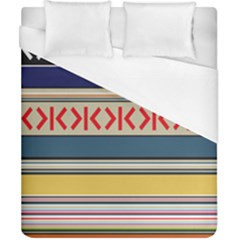 Original Code Rainbow Color Chevron Wave Line Duvet Cover (california King Size) by Alisyart