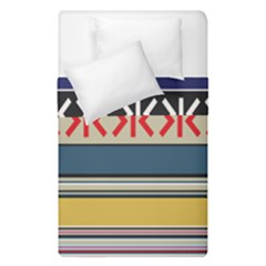 Original Code Rainbow Color Chevron Wave Line Duvet Cover Double Side (single Size)