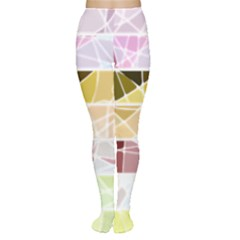 Geometric Mosaic Line Rainbow Women s Tights by Alisyart