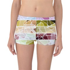 Geometric Mosaic Line Rainbow Reversible Bikini Bottoms by Alisyart