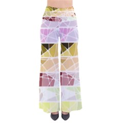 Geometric Mosaic Line Rainbow Pants by Alisyart
