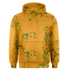 Nature Leaf Green Orange Men s Pullover Hoodie