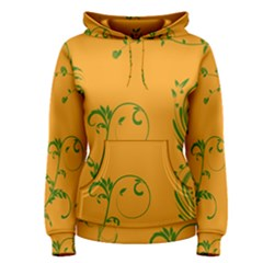 Nature Leaf Green Orange Women s Pullover Hoodie