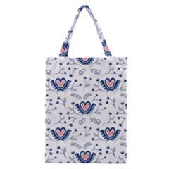 Heart Love Valentine Flower Floral Purple Classic Tote Bag