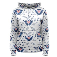 Heart Love Valentine Flower Floral Purple Women s Pullover Hoodie