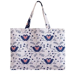 Heart Love Valentine Flower Floral Purple Zipper Mini Tote Bag by Alisyart