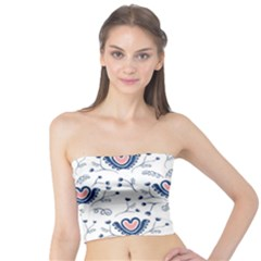 Heart Love Valentine Flower Floral Purple Tube Top