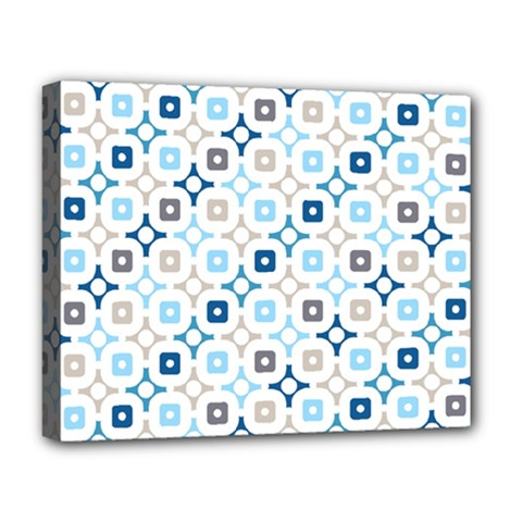 Plaid Line Chevron Wave Blue Grey Circle Deluxe Canvas 20  X 16