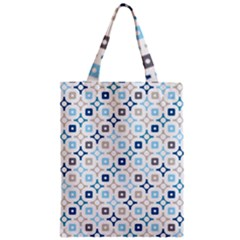 Plaid Line Chevron Wave Blue Grey Circle Classic Tote Bag by Alisyart