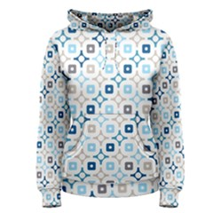 Plaid Line Chevron Wave Blue Grey Circle Women s Pullover Hoodie