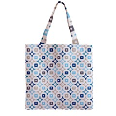 Plaid Line Chevron Wave Blue Grey Circle Zipper Grocery Tote Bag by Alisyart
