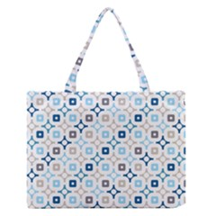 Plaid Line Chevron Wave Blue Grey Circle Medium Zipper Tote Bag by Alisyart