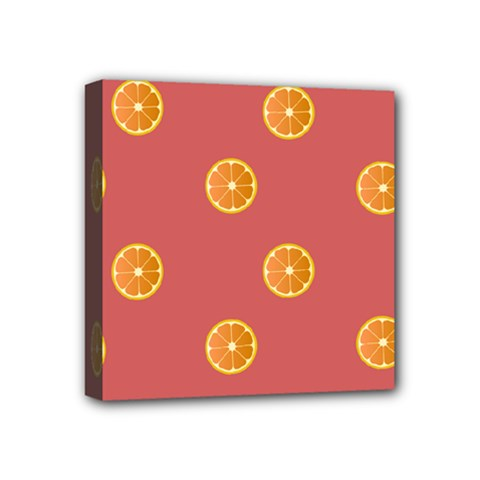 Oranges Lime Fruit Red Circle Mini Canvas 4  X 4  by Alisyart