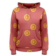 Oranges Lime Fruit Red Circle Women s Pullover Hoodie