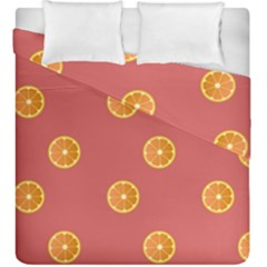 Oranges Lime Fruit Red Circle Duvet Cover Double Side (king Size)