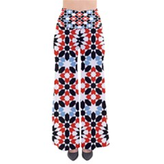 Oriental Star Plaid Triangle Red Black Blue White Pants
