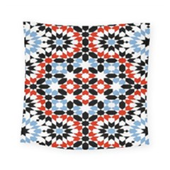 Oriental Star Plaid Triangle Red Black Blue White Square Tapestry (small)