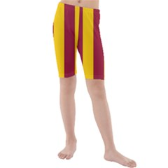 Red Yellow Flag Kids  Mid Length Swim Shorts by Alisyart