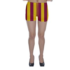 Red Yellow Flag Skinny Shorts by Alisyart
