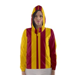 Red Yellow Flag Hooded Wind Breaker (women)