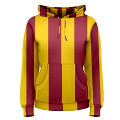 Red Yellow Flag Women s Pullover Hoodie