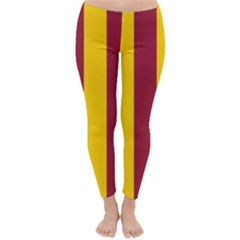 Red Yellow Flag Classic Winter Leggings