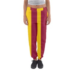 Red Yellow Flag Women s Jogger Sweatpants by Alisyart