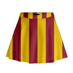 Red Yellow Flag Mini Flare Skirt