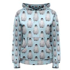 Penguin Animals Ice Snow Blue Cool Women s Pullover Hoodie