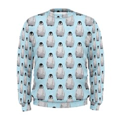 Penguin Animals Ice Snow Blue Cool Men s Sweatshirt