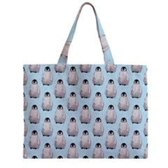 Penguin Animals Ice Snow Blue Cool Zipper Mini Tote Bag by Alisyart