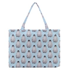 Penguin Animals Ice Snow Blue Cool Medium Zipper Tote Bag by Alisyart