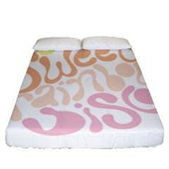 Sugar Sweet Rainbow Fitted Sheet (queen Size)