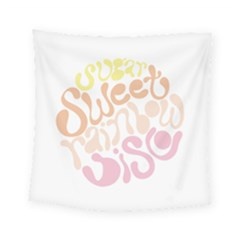Sugar Sweet Rainbow Square Tapestry (small) by Alisyart